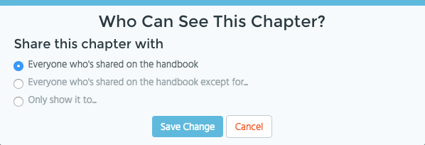 Blissbook Chapter Access Control